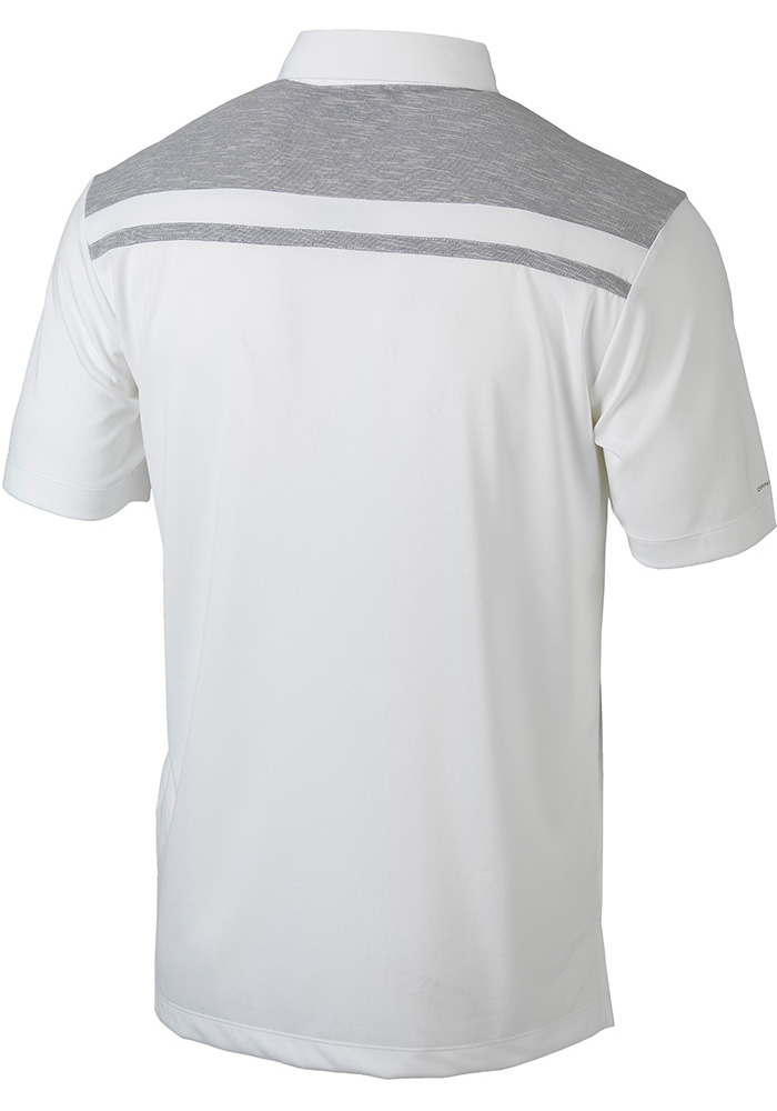 Columbia Michigan State Spartans Mens White Utility Short Sleeve Polo - Image 2