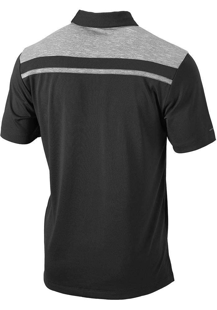 Columbia Xavier Musketeers Mens Charcoal Utility Short Sleeve Polo - Image 2