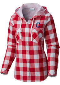 Cleveland Indians Womens Columbia Times Two Dress Shirt - Red