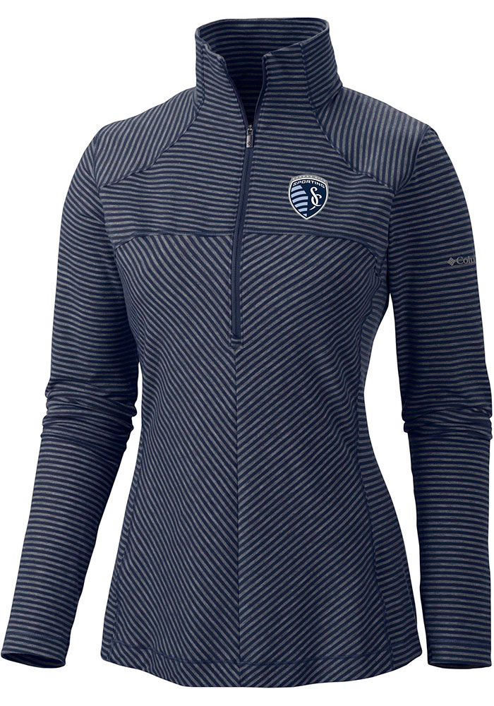 Columbia Sporting Kansas City Womens Navy Blue First Layer 1/4 Zip Pullover - Image 1