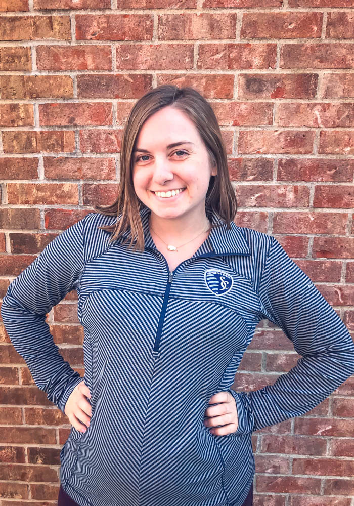Columbia Sporting Kansas City Womens Navy Blue First Layer 1/4 Zip Pullover - Image 3