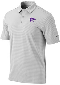 K-State Wildcats Columbia One Swing Polo Shirt - Grey