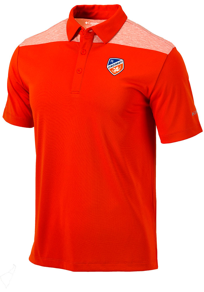 Columbia FC Cincinnati Mens Orange Utility Short Sleeve Polo - Image 1