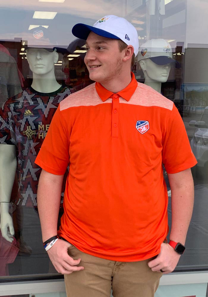 Columbia FC Cincinnati Mens Orange Utility Short Sleeve Polo - Image 3