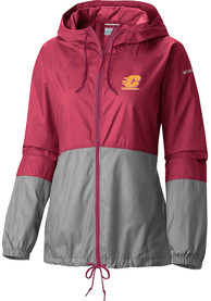 Columbia Central Michigan Chippewas Womens Red Flash Forward Windbreaker Light Weight Jacket