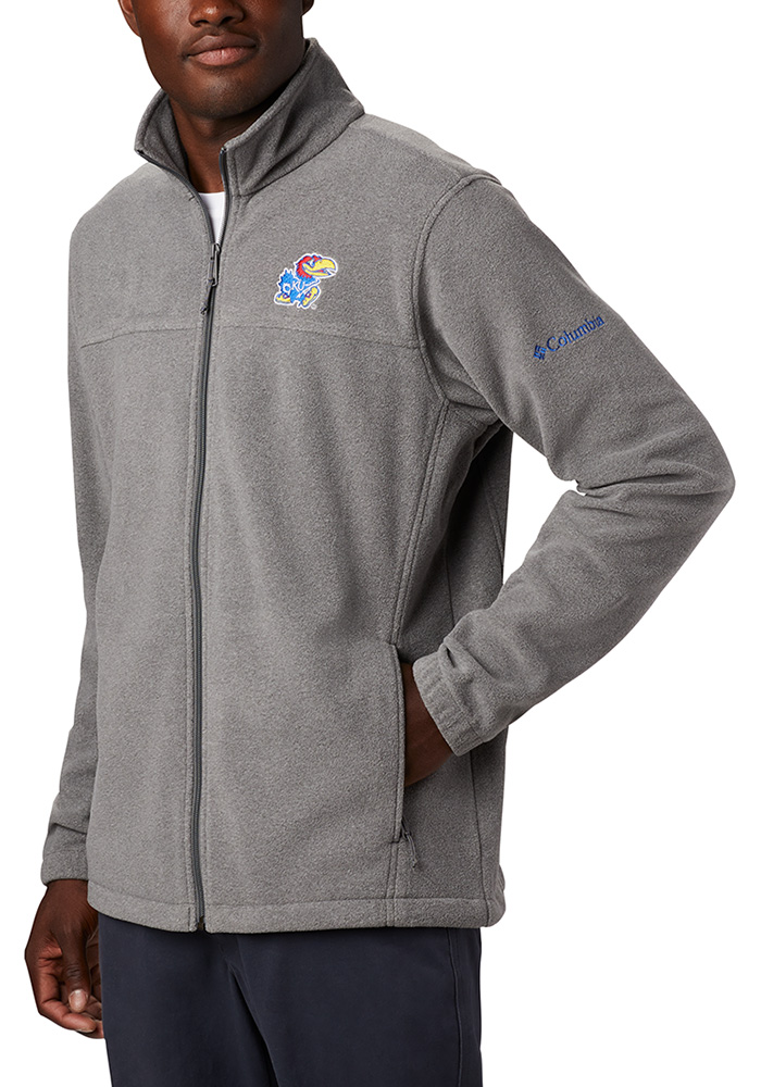 Columbia Kansas Jayhawks Mens Charcoal Flanker III Medium Weight Jacket - Image 1