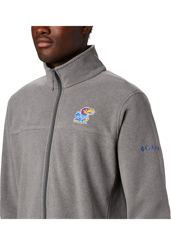 Columbia Kansas Jayhawks Mens Charcoal Flanker III Medium Weight Jacket - Image 3