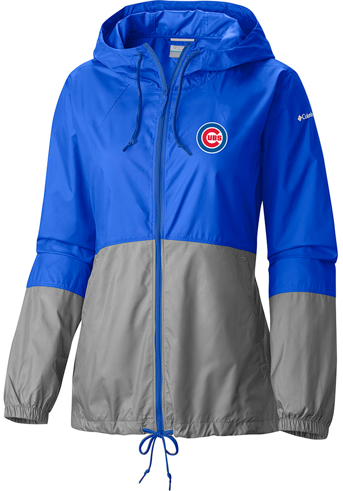 Columbia Chicago Cubs Womens Blue Flash Forward Light Weight Jacket - Image 1