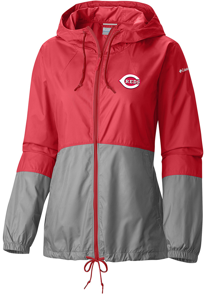 Columbia Cincinnati Reds Womens Red Flash Forward Light Weight Jacket - Image 1