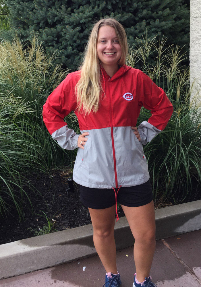 Columbia Cincinnati Reds Womens Red Flash Forward Light Weight Jacket - Image 3