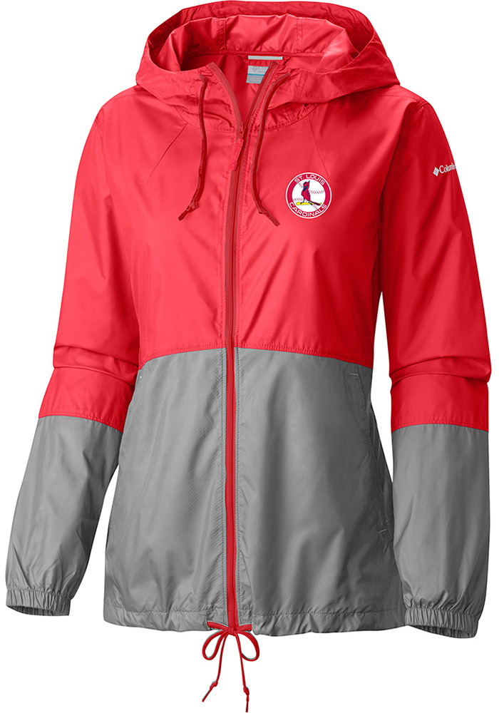 Columbia St Louis Cardinals Womens Red Flash Forward Light Weight Jacket - Image 1