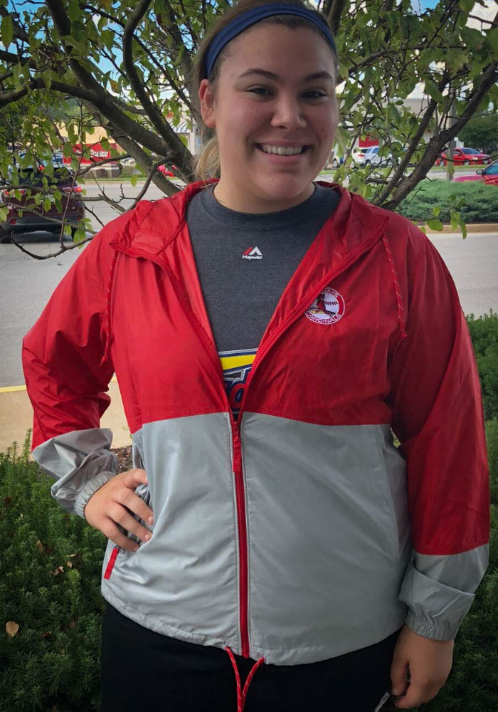 Columbia St Louis Cardinals Womens Red Flash Forward Light Weight Jacket - Image 3