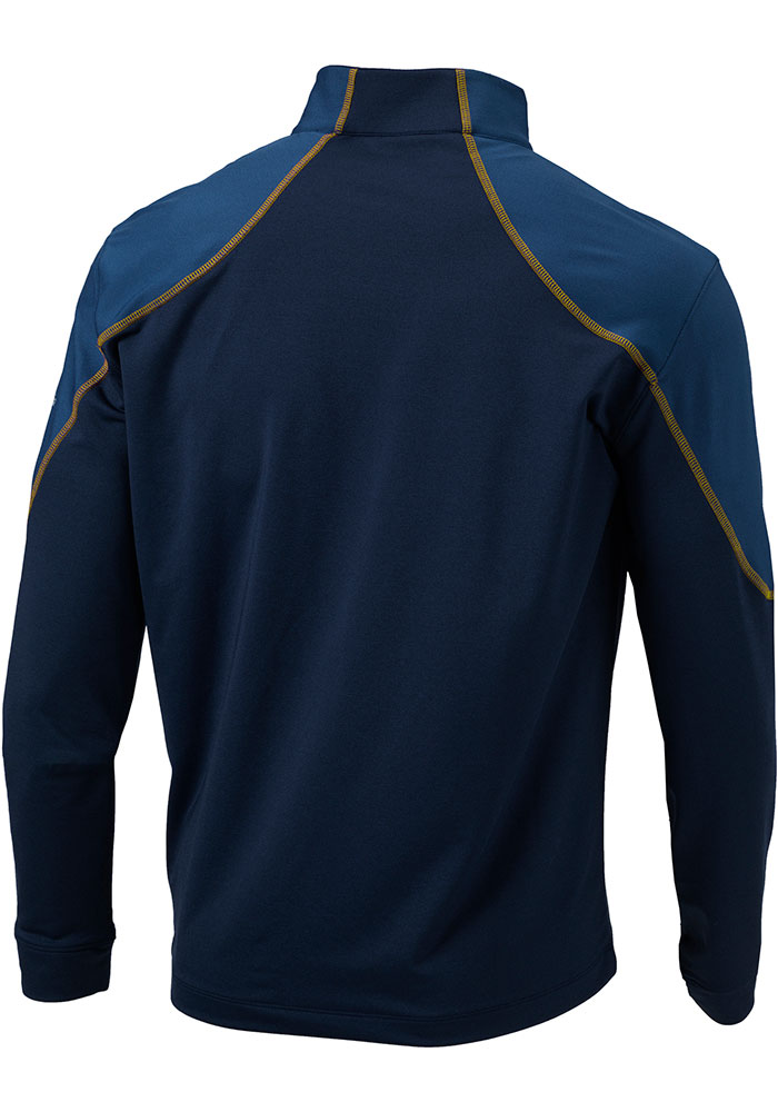 Columbia Milwaukee Brewers Mens Navy Blue Panel Long Sleeve 1/4 Zip Pullover - Image 2