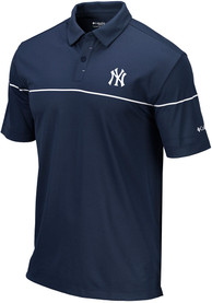 Columbia New York Yankees Navy Blue Breaker Short Sleeve Polo Shirt