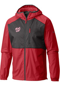 Washington Nationals Columbia Flash Forward Windbreaker Light Weight Jacket - Red