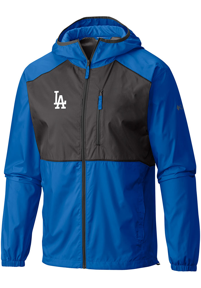 Columbia Los Angeles Dodgers Mens Blue Flash Forward Windbreaker Light Weight Jacket - Image 1