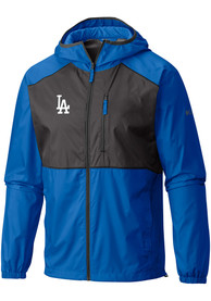 Los Angeles Dodgers Columbia Flash Forward Windbreaker Light Weight Jacket - Blue