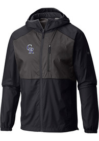 Colorado Rockies Columbia Flash Forward Windbreaker Light Weight Jacket - Black