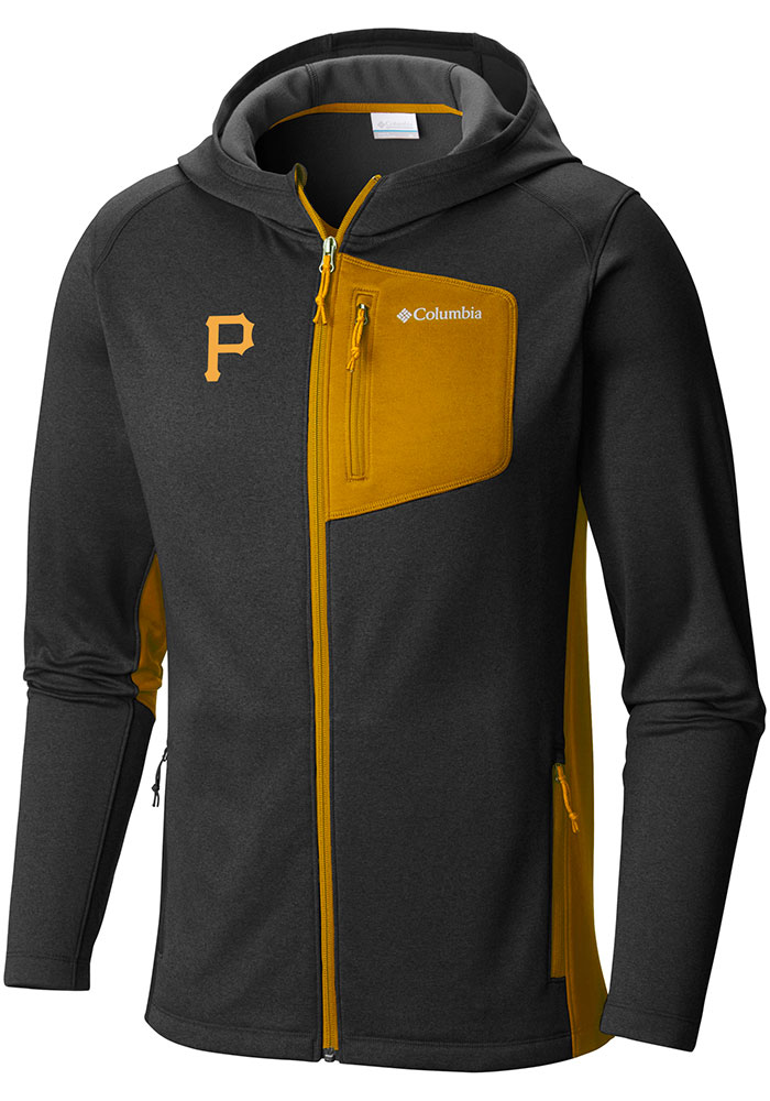 Columbia Pittsburgh Pirates Mens Black Jackson Creek Long Sleeve Full Zip Jacket - Image 1