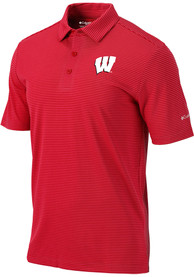 Wisconsin Badgers Columbia One Swing Polo Shirt - Red