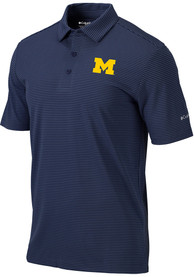 Michigan Wolverines Columbia One Swing Polo Shirt - Navy Blue