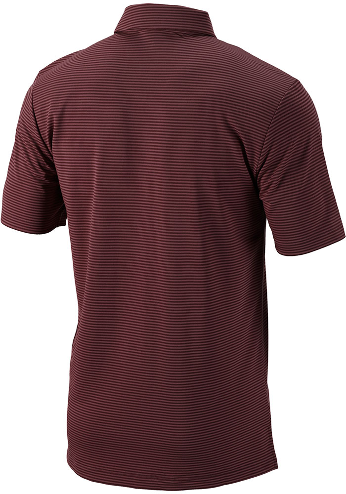 Columbia Texas A&M Aggies Mens Maroon One Swing Short Sleeve Polo - Image 2
