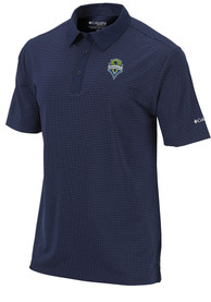 sneakers for cheap 7af4e 17960 Columbia Seattle Sounders FC Navy Blue Sunday Short Sleeve Polo Shirt