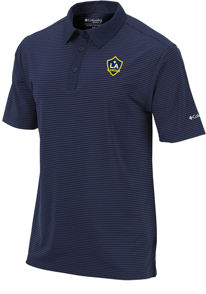LA Galaxy Columbia Sunday Polo Shirt - Navy Blue