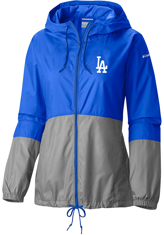 Columbia Los Angeles Dodgers Womens Blue Flash Forward Windbreaker Light Weight Jacket - Image 1