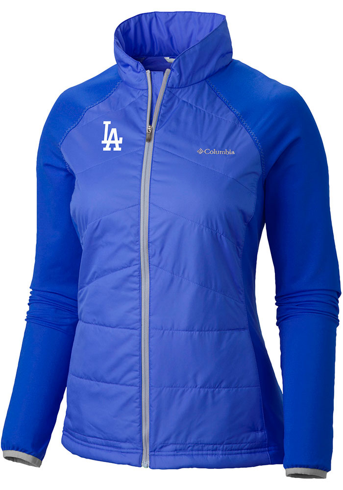 Columbia Los Angeles Dodgers Womens Blue Mach 38 Light Weight Jacket - Image 1
