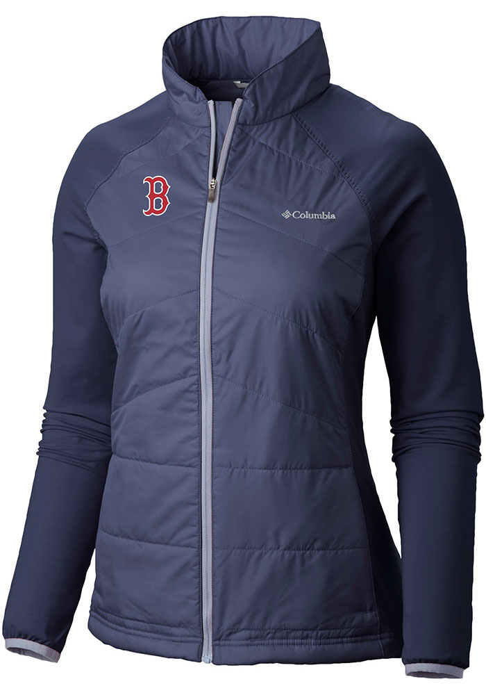 Columbia Boston Red Sox Womens Navy Blue Mach 38 Medium Weight Jacket - Image 1