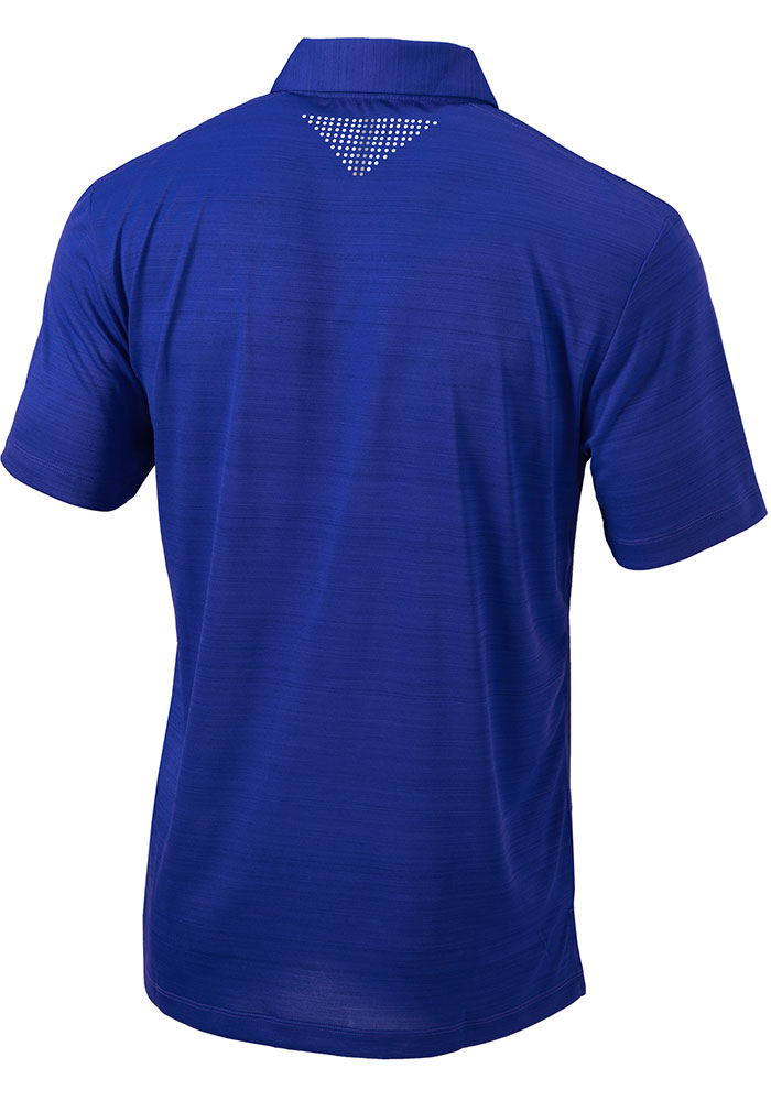 Columbia Los Angeles Dodgers Mens Blue Printed Dot Short Sleeve Polo - Image 2
