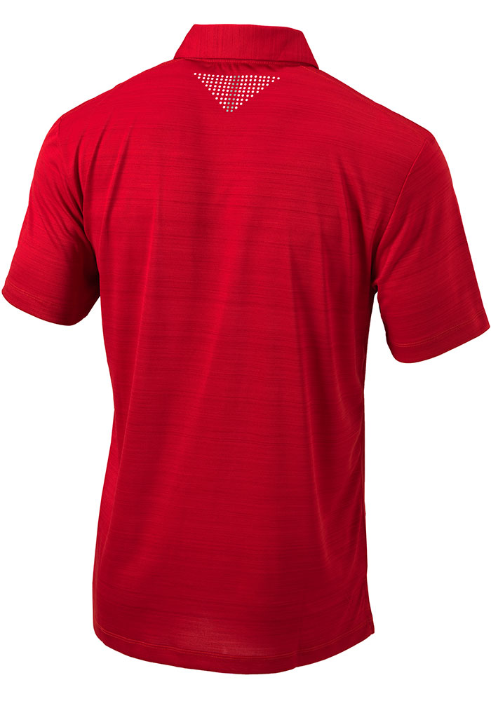 Columbia St Louis Cardinals Mens Red Printed Dot Short Sleeve Polo - Image 2