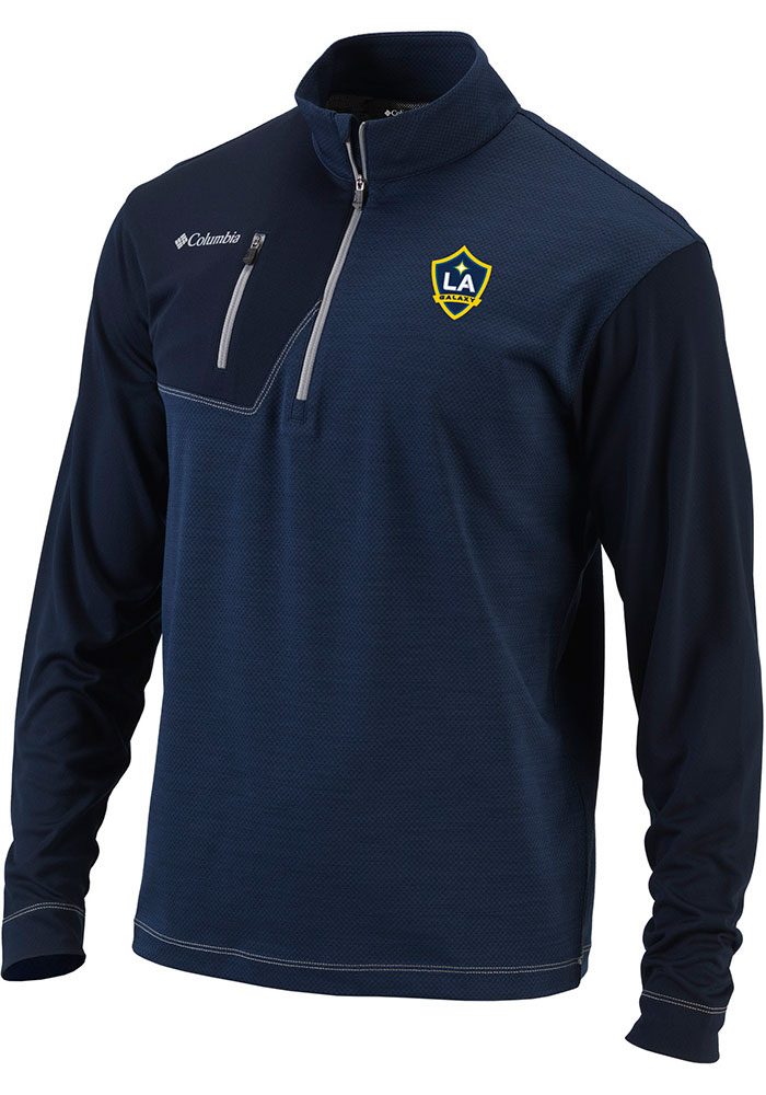 Columbia LA Galaxy Mens Navy Blue Regulation Long Sleeve 1/4 Zip Pullover - Image 1
