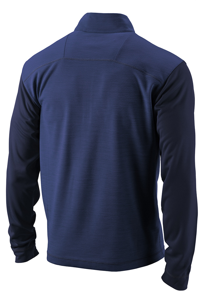 Columbia LA Galaxy Mens Navy Blue Regulation Long Sleeve 1/4 Zip Pullover - Image 2