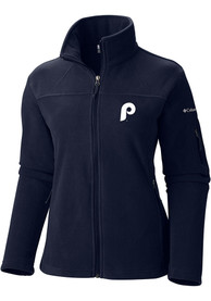 Philadelphia Phillies Womens Columbia Give And Go Light Weight Jacket - Navy Blue