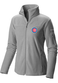 Chicago Cubs Womens Columbia Give and Go Light Weight Jacket - Grey