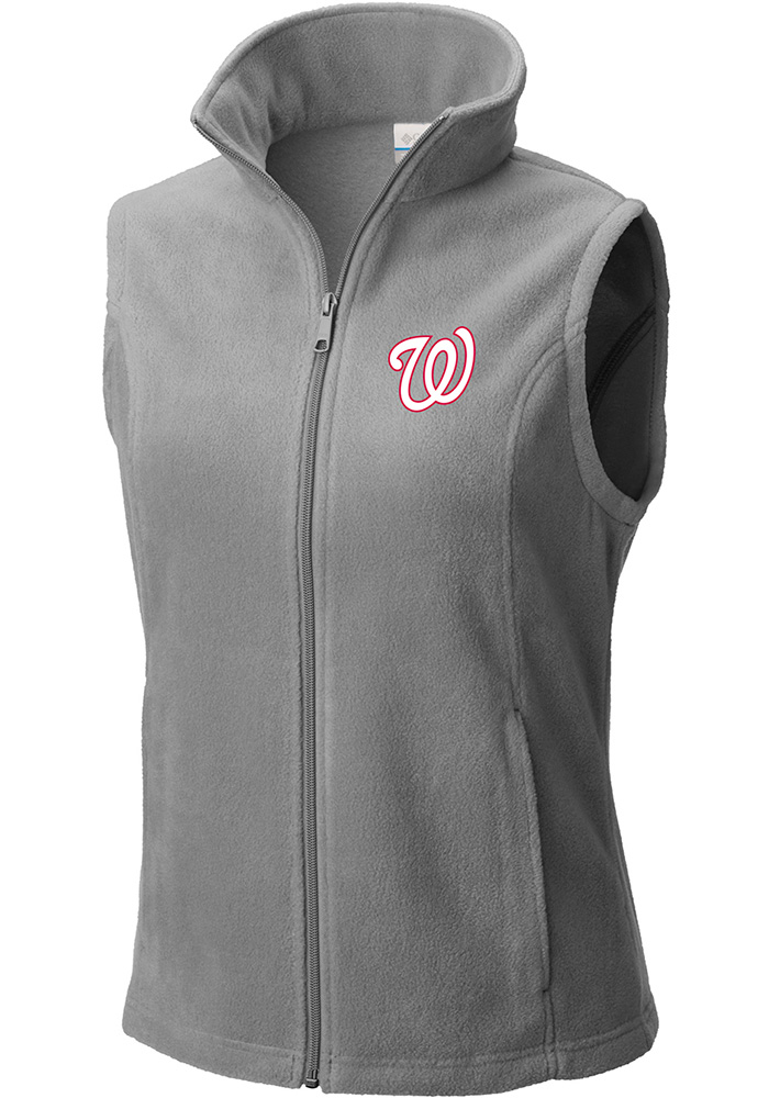 Columbia Washington Nationals Womens Grey Benton Springs Vest - Image 1