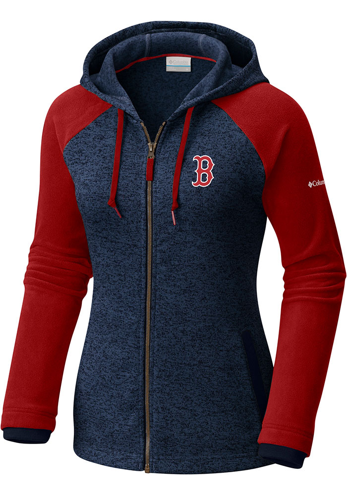 Columbia Boston Red Sox Womens Navy Blue Darling Days Long Sleeve Full Zip Jacket - Image 1