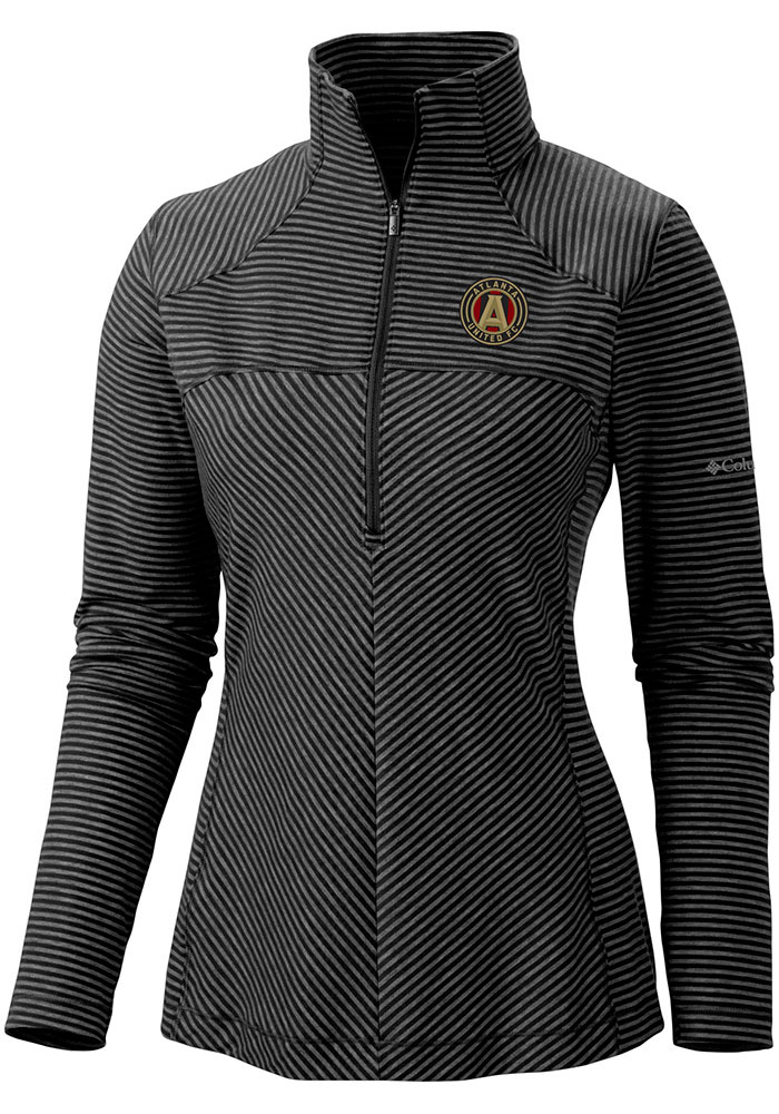 Columbia Atlanta United FC Womens Black Layer First 1/4 Zip Pullover - Image 1