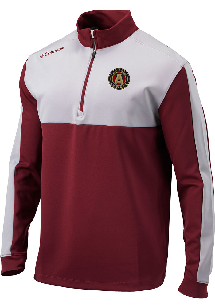 Columbia Atlanta United FC Mens Red Waggle Long Sleeve 1/4 Zip Pullover - Image 1