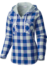 Columbia Kansas City Royals Womens Blue Times Two Dress Shirt