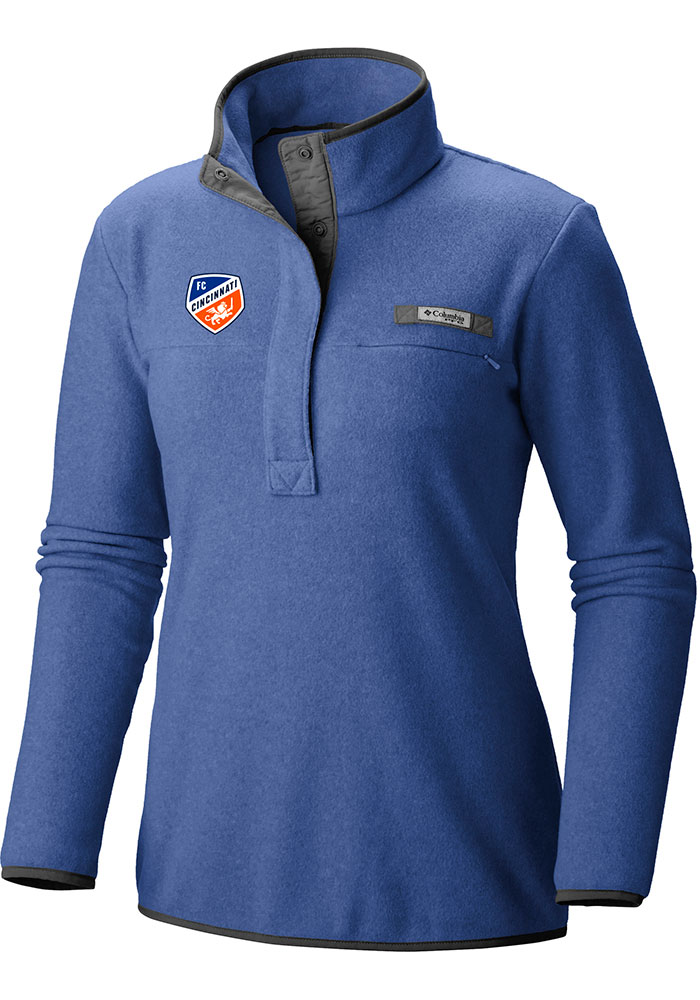 FC Cincinnati Womens Columbia Harborside 1/4 Zip Pullover - Blue