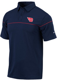 Columbia Dayton Flyers Navy Blue Breaker Short Sleeve Polo Shirt