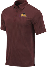 Columbia Loyola Ramblers Maroon Sunday Short Sleeve Polo Shirt