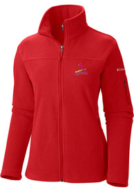 St Louis Cardinals Womens Columbia Give and Go Full Zip Jacket - Red
