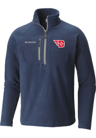 Columbia Dayton Flyers Navy Blue Fast Trek III 1/4 Zip Pullover