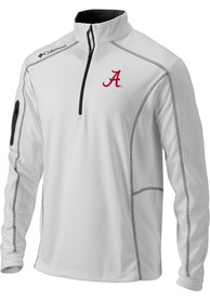 Alabama Crimson Tide Columbia Shotgun 1/4 Zip Pullover - White