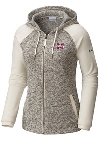 Columbia Mississippi State Bulldogs Womens White Darling Days Full Zip Jacket
