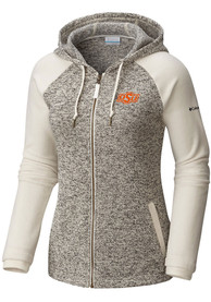 Oklahoma State Cowboys Womens Columbia Darling Days Full Zip Jacket - White